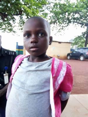 6-Year-Old Girl From Benue State Found Wandering In Abakaliki, Ebonyi (Photo)